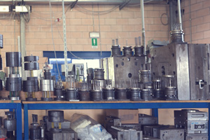 Injection moulds are registered and stocked on  specific shelves. We carry out routine maintenance on them.